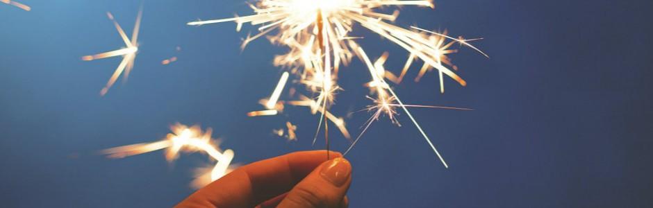 Burning sparkler stick