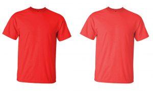 Red tshirt comparison