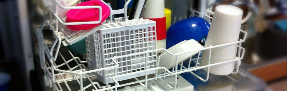 Loaded dishwasher