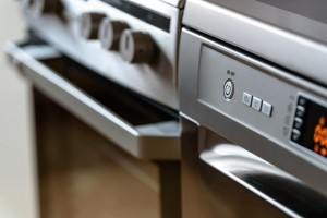 Close-up of kitchen appliances