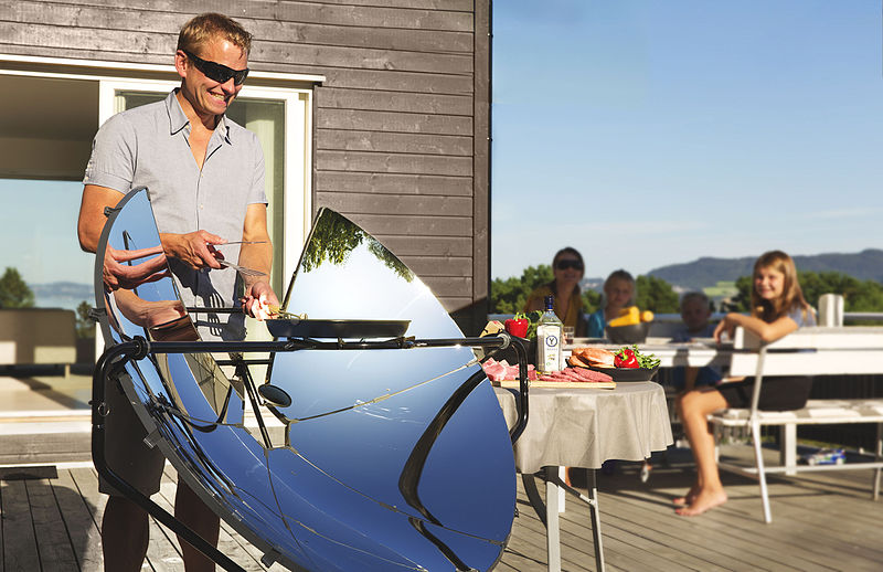 Cooking with a solar cooker