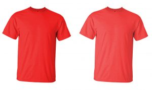 Red tshirt comparison