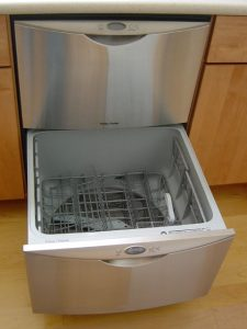 Open drawer dishwasher