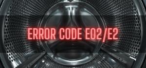 Beko Washer Error Code E02/E2