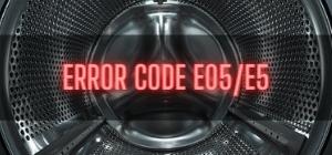 Beko Washer Error Code E05/E5
