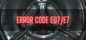 Beko Washer Error Code E07/E7