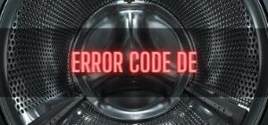 LG Washer Error Code DE