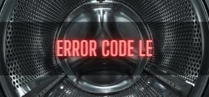 LG Washer Error Code LE